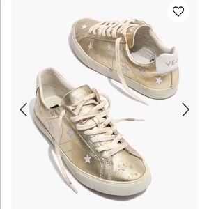 Madewell x Veja Esplar Gold Leather with Stars